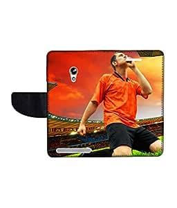 KolorEdge Printed Flip Cover For Asus Zenfone 4 A450CG Multicolor - (45KeMLogo09243Zen4A450CG)