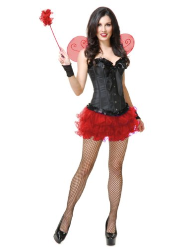 Red Pixie Tutu & Wings Adult Womens Set