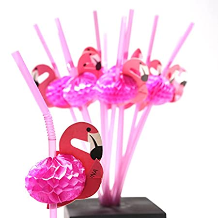 Spice up your Luau Drinks with Flamingo Straws! What better way to set the Hawaiian mood at your Luau party than by sipping drinks from tropical strawss The flamingo straws are the perfect tropical addition to your luau party drinks. A dozen straws p...