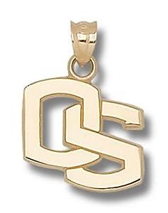 Oregon State Beavers 5 8 OS Pendant - 14KT Gold Jewelry by Logo Art