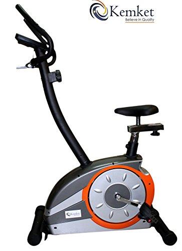 Bicicletta pieghevole per esercizi Fitness, con chiusura magnetica, con 5 kg, 4 kg, interno volano polso magnetica, sensori & 8, livello di resistenza regolabile-Image & colori possono variare leggermente Kemket *Offerta limitata