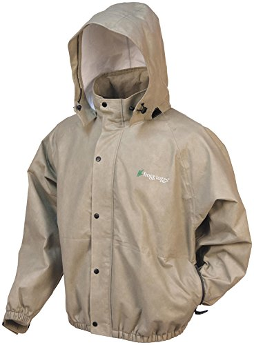 Frogg Toggs Men'S Classic Pro Action Jacket With Pockets, Khaki, Medium front-1057863