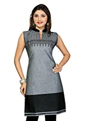 Printed Cotton Handloom Cotton Long Kurtis