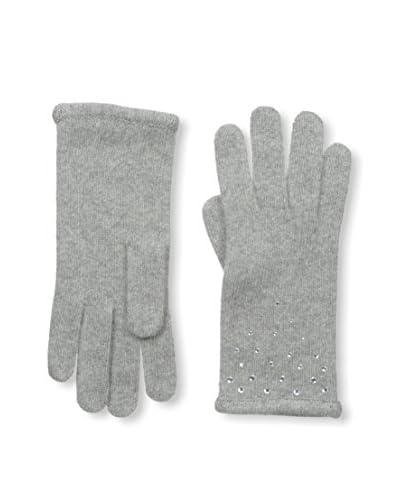 Portolano Women's Cashmere Glove, Light Heather Grey