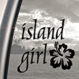 Island Girl Black Decal Car Truck Bumper Window Sticker