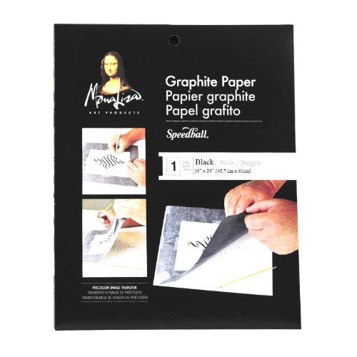 Speedball Mona Lisa 18-Inch-by-24-Inch Jumbo Graphite Paper, Black