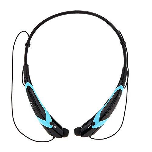 Gearmax® Tracolla Style In-orecchio Bluetooth Musica Cuffia Auricolare Cuffie Sportive Esterno senza Fili Stereo 4.0 + EDR con Microfono per iPhone 6 Plus 6 5S LG Samsung S5 S4 HTC Tablet PC-voce