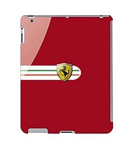 Fuson 3D Printed Car Designer Back Case Cover for Apple iPad 4 - D569