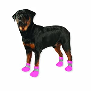 Paw Tectors by Pedigree Perfection International Inc. Water Proof Boot, Medium, Pink by PEDIGREE PERFECTION INTERNATIONAL, INC.