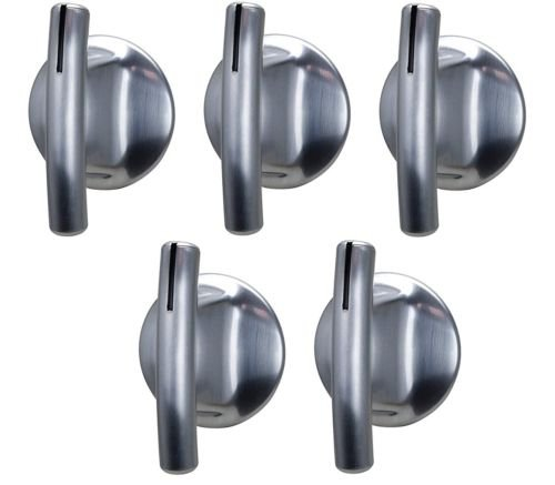 (5) Stove Burner Knob Replacement for Jenn Air 74007918 Chrome Oven Control Knob (Stove Knobs 5 compare prices)