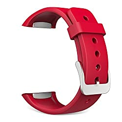 Gear S2 Watch Band, MoKo Soft Silicone Replacement Sport Band for Samsung Galaxy Gear S2 Smart Watch - RED (Not Fit Gear S2 Classic SM-7320 version)