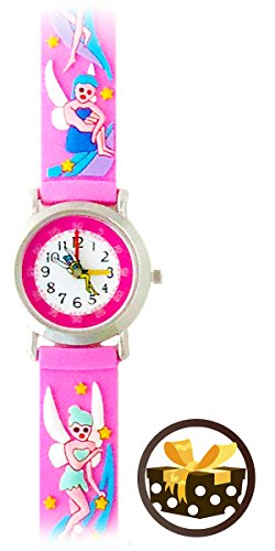 [Magical Fairies (Pink) Gone Bananas Girls Time Teacher Waterproof Fairy Watch in a Holiday Gift Box] (Fairytopia Barbie Costume)