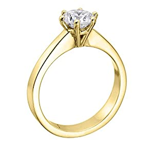 GIA Certified 14k white-gold Round Cut Diamond Engagement Ring (1.53 cttw, G Color, VS1 Clarity)