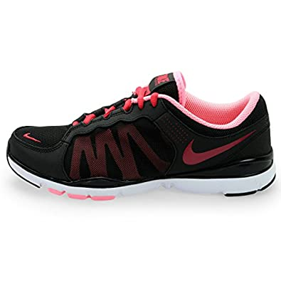 Nike Women's Flex Trainer 2 - Black / Sport Fuschia-Pink-White, 6 B US