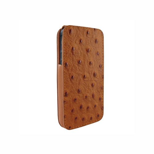 Special Sale Apple iPhone 5 / 5S Piel Frama iMagnum Tan Ostrich Leather Cover