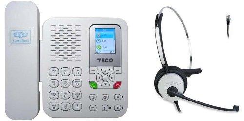 Skype公認 ・ TECO Skype電話機 (XS2008CA) + ヘッドセット 【お買い得セット】
