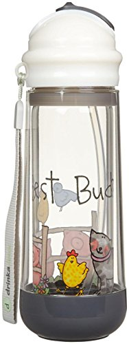 Buggygear Drinkadeux Glass Double Wall Bottle - Pebble/Bestbuds