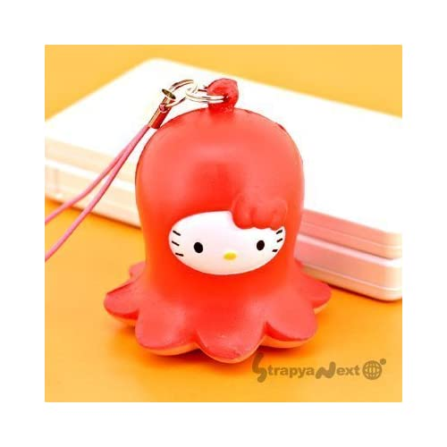 Sanrio Hello Kitty Lunch Box Squeeze Mascot Cell Phone Strap (Octpus)