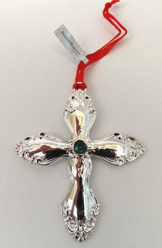 Reed & Barton Old Virginia Cross Silver-plated Ornament