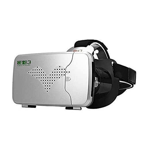 VIGICA Updated RIEM III 3D VR Virtual Reality Headset 360 Viewing Immersive VR Glasses 3D Video Movies Games AR Google Cardboard Adjustable Strap for 3.5-6.0 inch iPhone Android Smartphones