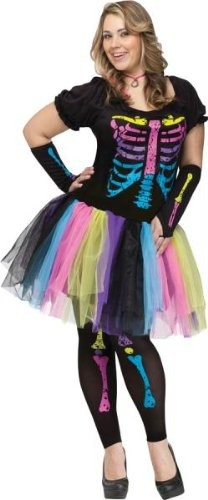 Fun World Funky Punk Bones Women's Costume Plus
