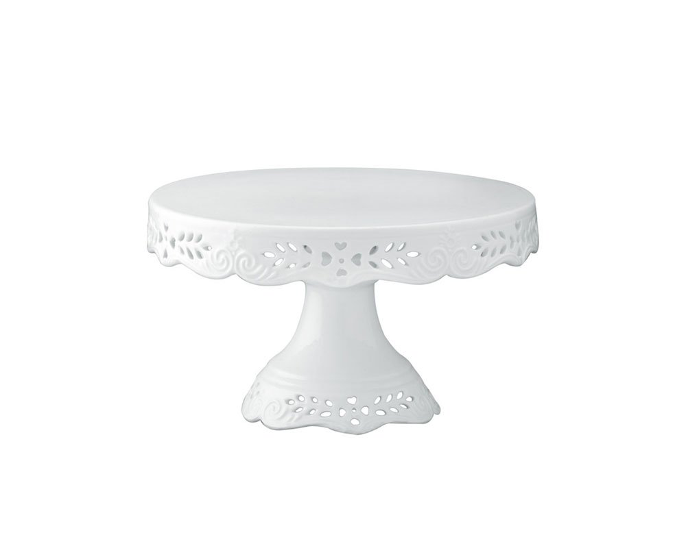 Inch White Porcelain Cake Stand