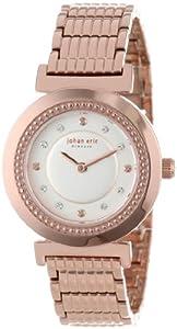 Johan Eric Women's JE1200-09-009B Djursland Rose Gold Ion-Plated Stainless Steel Swarovski Crystal Watch