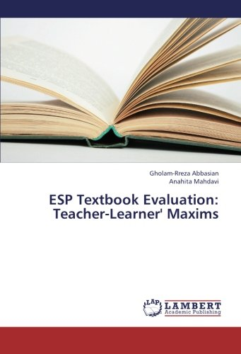 ESP Textbook Evaluation: Teacher-Learner' Maxims