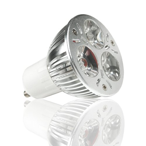 2X Lohas Dimmable 4W Gu10 120 Degree 110~240V Led High Power Spotlight With 3 Leds-40W Equivalent-Cool White