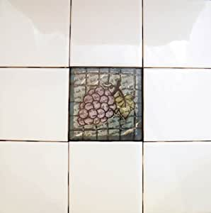 mixed media stained glass 4 x 4 wall tiles kitchen
