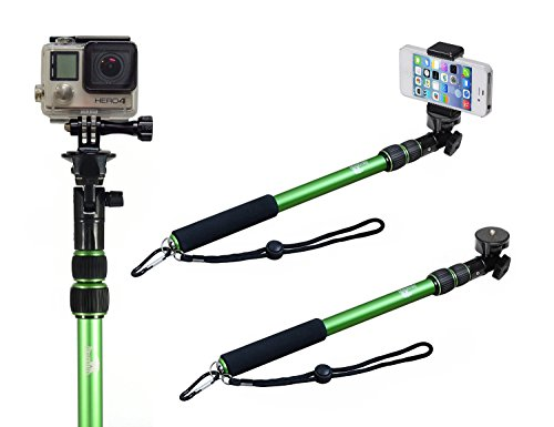 Selfie Stick - Pole - Monopod Selfie Stick - Best Selfie Stick - Selfie Stick for iPhone 6 - Use as a Selfie Stick for GoPro - Rugged/Waterproof with NO Bluetooth - The Alaska Life© (Go Pro Hero 4 White Accesories compare prices)