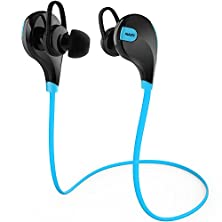 buy Aukey Ep-B4 Blue Wireless Bluetooth Sport Earphones With Aptx, Built-In Mic For Smartphone - Blue