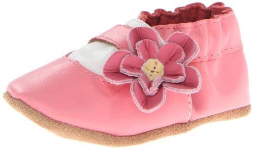 Robeez Flower Girl Crib Shoe (Infant/Toddler),Pink,12-18 Months M Us Toddler