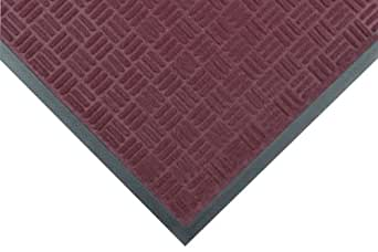"""Notrax 167 Portrait Entrance Mat, for Lobbies and Indoor Entranceways, 3' Width x 5' Length x 1/4"""" Thickness, Burgundy"""