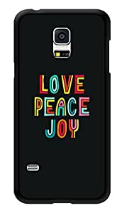 """Humor Gang Love Peace Joy Printed Designer Mobile Back Cover For """"Samsung Galaxy S5"""" (3D, Glossy, Premium Quality Snap On Case)"""