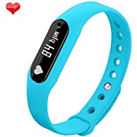 Witmood C6 Smart Bracelet Heart Rate Monitor Smartband Sport Pedometer Wristband Watch Fitness Tracker For IPhone...