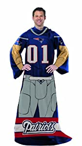 NFL New England Patriots Full Body Player Comfy Throw by Northwest