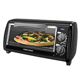 Black & Decker TO1420B 4-Slice Toaster Oven, Black