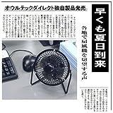 [【Amazon限定商品】 オウルテックダイレクト オフィスを自宅を涼しくするレトロUSB扇風機 ブラック EMG-USBFAN-B]