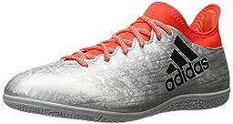 adidas Performance Men\'s X 16.3 in Soccer Shoe, Silver Metallic/Black/Infrared, 7 M US
