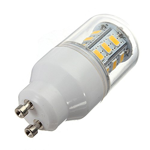Kingso 5.5W Corn Led Gu10 Lights 220V 5730 24 Smd Frosted Cover Bulb Warm White