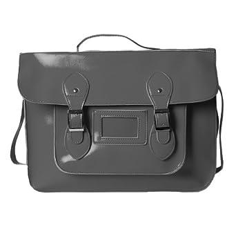 Accessoryo - Mesdames cuir selle sac de messager de corps de croix sacoche faux mou brun à la mode de l'épaule
