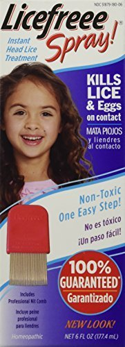 Licefreee Spray Instant Head Lice Treatment 6 Oz (3 Pack)