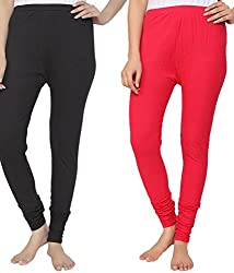 Ace Women Leggings(combo of 2 black and Red)
