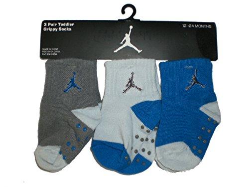 Nike Air Jordan Newborn Baby Socks, 3 PAIRS, Size 12 - 24 Months