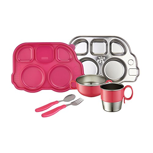 Innobaby Din Smart Stainless Mealtime Set, Pink