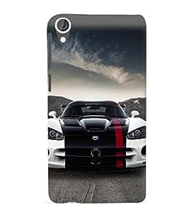 Racing Car 3D Hard Polycarbonate Designer Back Case Cover for HTC Desire 820 :: HTC Desire 820 Dual Sim :: HTC Desire 820S Dual Sim :: HTC Desire 820q Dual Sim :: HTC Desire 820G+ Dual Sim