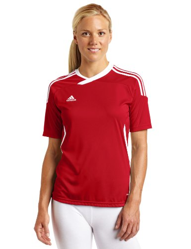 adidas Women's Tiro 11 Short-Sleeve Jersey Top, University Red/White, Medium
