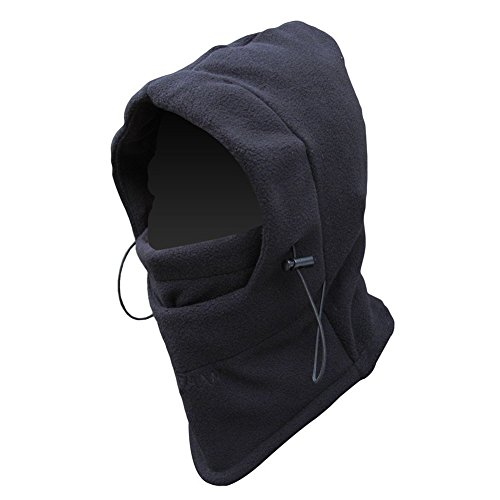 FULL FACE Mask Fleece Hood Tactical Balaclava Black