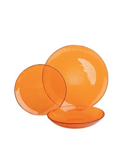 Molecuisine Vajilla 12 Piezas Scratch Naranja